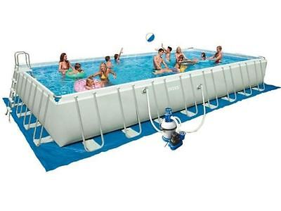 Intex 28372 Ultra Frame 975 x 488 x 132 cm Stahlrahmen Swimming Pool Komplettset