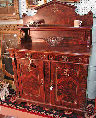 Antique Grain Painted Sideboard Huntboard Solid Pine