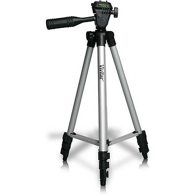 "50"" Vivitar VIV-VPT-1250 Camera Video Tripod with Bubble Level and Carrying Case"