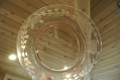 Set of 5 Pressed Glass Pink Salad Plates 7-3/8""