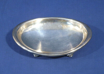 Vtg Antique Tiffany Makers Silver Soldered Bon-Bon Tray Candy Dish Silverplate