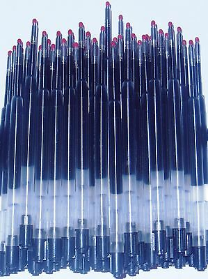 20 - GEL Ballpoint Refills for PARKER PEN - BLACK .5mm - Plastic Barrel