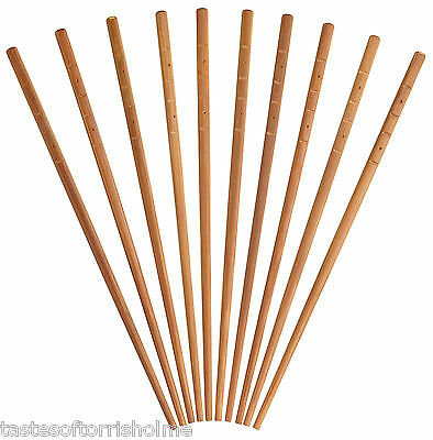 Kitchen Craft 10 x Oriental Chinese Reusable Bamboo Wooden Chopsticks