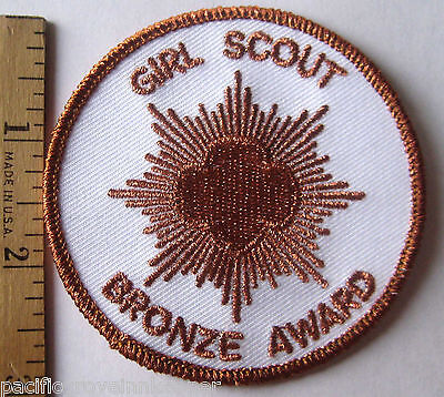 HTF Girl Scout Post-2011 Junior BRONZE AWARD PATCH Highest Earned NEW Ages 9-11