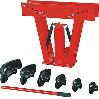 """**16 TON** Hydraulic Pipe Tube Bender 6 Dies 2"""" Square Round Pipe Bender Exhaust"""