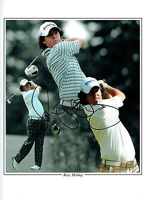 Rory McILROY Signed Autograph 16x12 Montage GOLF Photo World No 1 RARE AFTAL COA