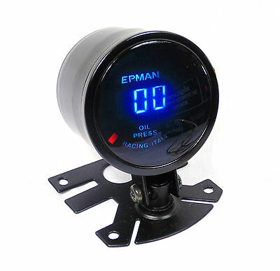 Universal 52mm Digital LED Oil Pressure Gauge 0 to 10 Bar Pressure