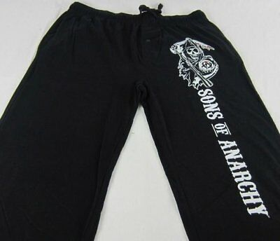 Mens Womens NEW Sons of Anarchy Reaper Black Pajama Lounge Pants S M L XL 2XL