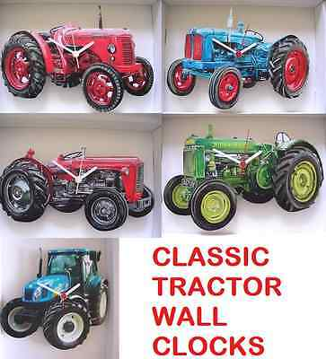 Classic / Vintage Tractor Wall Clock.new.5 Styles New Holland,John Deere  Etc