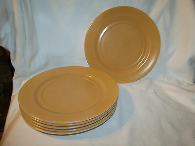 """Vintage Hazel Atlas Glass USA Set of 6pc 8 7/8"""" inches Luncheon or Dinner Plate"""