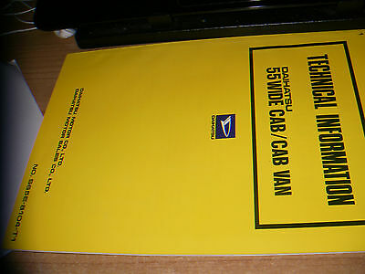 Daihatsu 55 WIDE CAB/ CAB VAN  Technical information 1981 (eng) 74  pag.