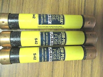 * Lot Of 3 Bussman Lps-Rk-9Sp  Dual-Element Fuses  ...... Ve-209
