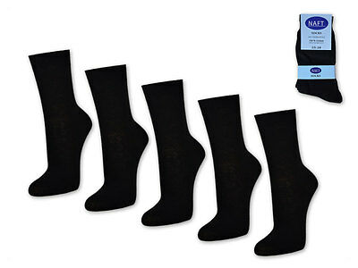 10 Pair Women's Socks 100% Cotton without Seam Business Black White