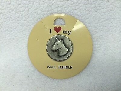 1983 Rawcliffe Fine Pewter I Love My Bull Terrier Pin