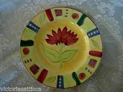 TABLETOPS UNLIMITED Melissa Pattern Dinner Plate - Hand Painted