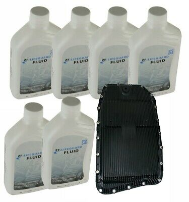 Transmission Oil Pan Filter Kit & 6-Liter's ZF Lifeguard 6 Trans Fluid GA6HP26Z