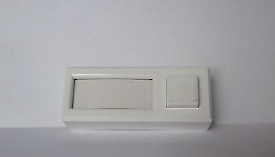 Vintage Made In Bulgaria Genuine White Bakelite Electric Door Bell - Button Nos