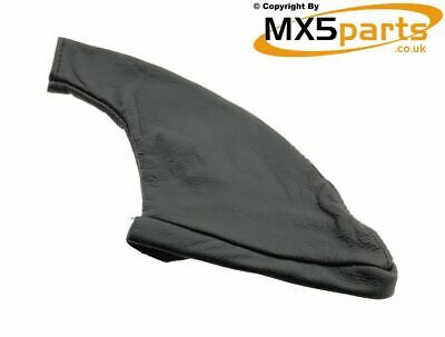 MX5 Handbrake Handle Lever Gaiter Black Leather Mazda MX-5 Mk1 Mk2 Mk2.5 1989>05