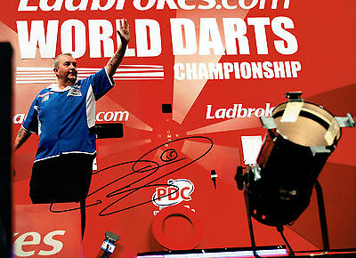 The POWER Phil TAYLOR Signed Autograph Darts LEGEND 16x12 RARE Photo AFTAL COA