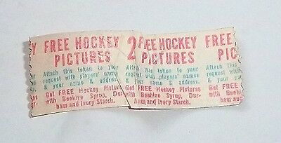 Bee Hive Redemption token or coupon 1940's -1960's for 2 free Hockey photos  # 3
