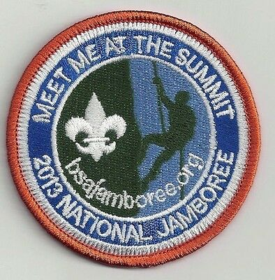 "2013 NATIONAL JAMBOREE ""MEET ME AT THE SUMMIT"" ROUND PROMO PATCH"