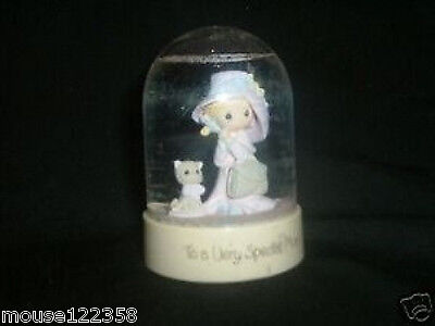 Precious Moments 1984 Water Globe  with Cat