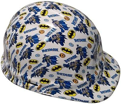NEW! BATMAN Hydro Dipped Cap Style Hard Hat with Ratchet Suspension