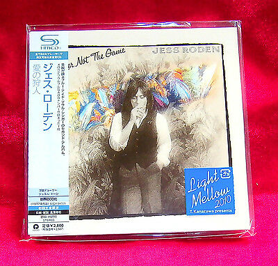 JESS RODEN PLAYER NOT THE GAME JAPAN MINI LP SHM CD NEW OUT OF PRINT UICY-94705