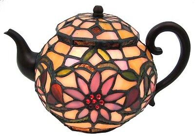 Stained Glass Teapot Accent Lamp Tea Pot Kettle