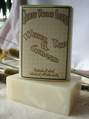 White Tea and Ginger Handmade SOAP, rich lather, natural