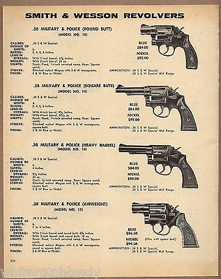 1971 SMITH & WESSON Military Police Model 10 Round Sq Hvy Barrel 12 REVOLVER AD