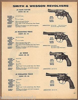 1971 SMITH & WESSON Model 30, 32 Terrier 31 & 33 Regulation Police REVOLVER AD