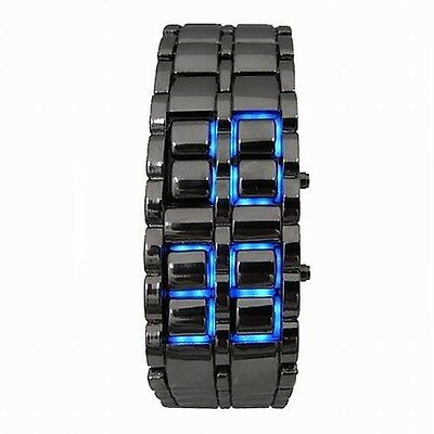 The unique design of neutral style stainless steel watch LED Digital Watch Lava