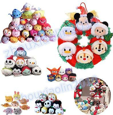 "Tsum TSUM 3.5"" Plush Mini Toy Keys Accessories Phone Screen Wipe Doll Xmas Gift"
