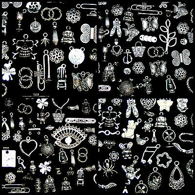 Tibetan Silver Mixed Charms Beads Jewellery Making Crafts  Mix UK SELLER