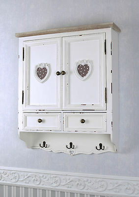 wandboard h ngeregal shabby chic antik weiss wandschr nkchen. Black Bedroom Furniture Sets. Home Design Ideas