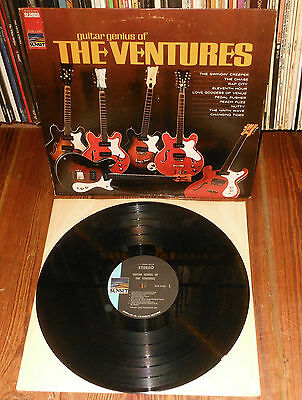GUITAR GENIUS OF THE VENTURES 1968 LP 1st USA press Sunset SUS-1160 Stereo Surf
