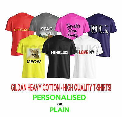New CUSTOM Personalised Mens / Ladies TOP QUALITY PRINTED T-SHIRT Stag Hen Party
