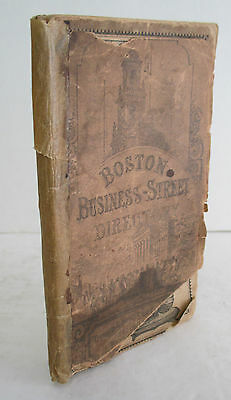 BOSTON BUSINESS-STREET DIRECTORY For 1858, Illustrated
