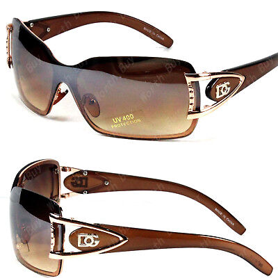 New DG Butterfly Women Designer Shield Wrap Around Sunglasses Fashion Gold Brown