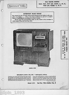 Sams PhotoFact RCA Victor Televisions 9T57,9T77,9T79,(Ch. KCS49,A,AT,T), 9T89