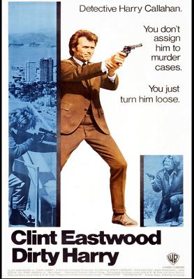 """Dirty Harry - Clint Eastwood Movie Poster 24""""X36"""""""