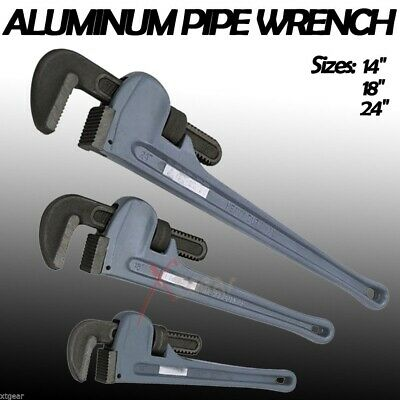 """3 PCS 14"""" 18"""" 24"""" ALUMINUM ADJUSTABLE PIPE WRENCHES Wrench PLUMBING  HAND TOOLS"""