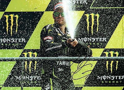 Cal CRUTCHLOW SIGNED YAMAHA Autograph PODIUM 16x12 Photo British AFTAL COA