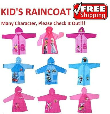NEW Sz 3~8 RAINCOAT PINK BLUE RAIN COAT DRESS JACKET GIRL KID BOY FROZEN MINION