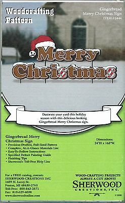 Gingerbread Merry Christmas Woodworking Plans by Sherwood Creations