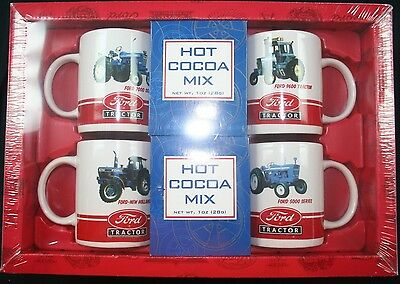 4 Ford tractor collector coffee cup mug giftset New Holland 7000 9600 8730 5000