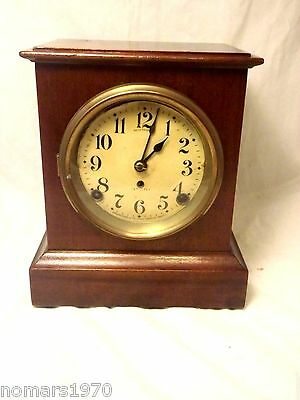 Beautiful Vintage Antique Seth Thomas Mantle Clock Working W/ Key