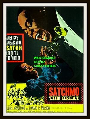 "SATCHMO THE GREAT, FILM- MINI-POSTER PRINT 7"" x 5"""