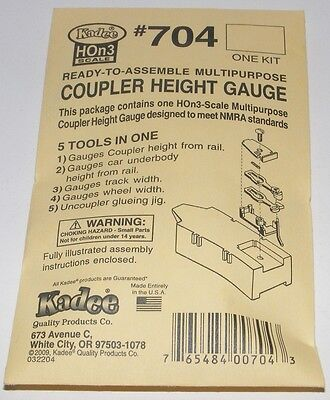Kadee HOn3 scale # 704 Multipurpose Coupler Height / Track Gauge Kit ~ New